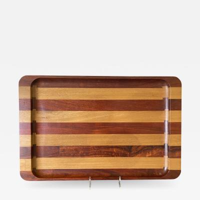 Don Shoemaker Large Exotic Mixed Wood Tray by Don Shoemaker