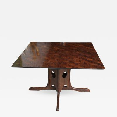 Don Shoemaker Mexican Modern Jacaranda Coconut and Mesquite Dining Center Games Table