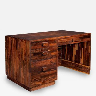 Don Shoemaker Rare Cocobolo Wood Desk Don Shoemaker