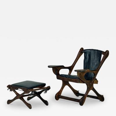 Don Shoemaker Rosewood Lounge Chair and Ottoman Don Shoemaker