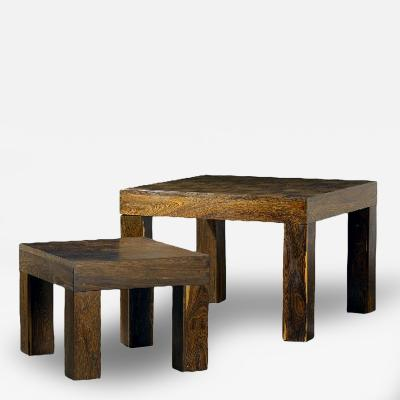 Don Shoemaker Two Rosewood Nesting Tables Don Shoemaker