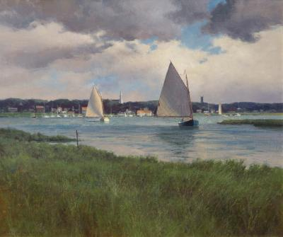 Donald Demers Clearing Skies over Chatham Massachusetts