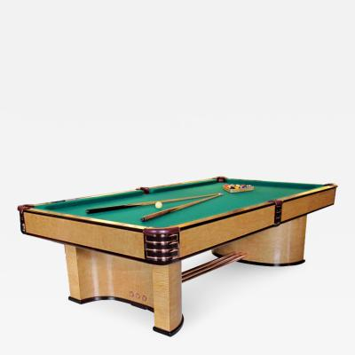 Donald Deskey 1937 Brunswick Paramount Art Deco Pool Table