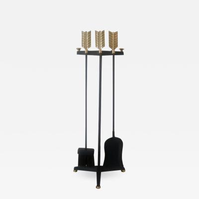 Donald Deskey Brass Fireplace Tools