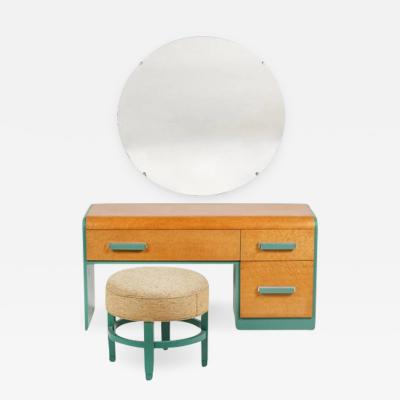 Donald Deskey DONALD DESKEY ART DECO VANITY AND STOOL