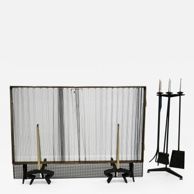 Donald Deskey Donald Deskey Fireplace Tool Set with Screen