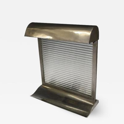 Donald Deskey Modernist Art Deco Nickeled Bronze Table Lamp attributed to Donald Deskey