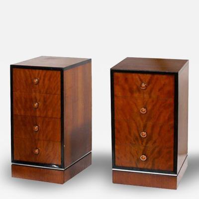 Donald Deskey Pair American Art Deco Streamline Nightstand Cabinets