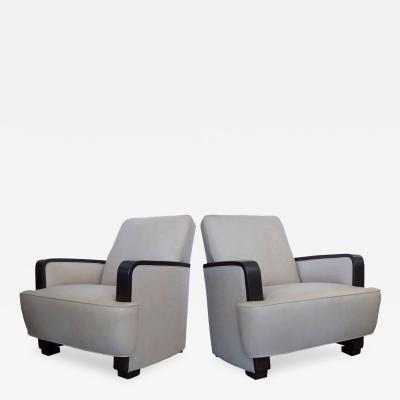 Donald Deskey Pair of Lounge Chairs by Donald Deskey For Radio City Music Hall