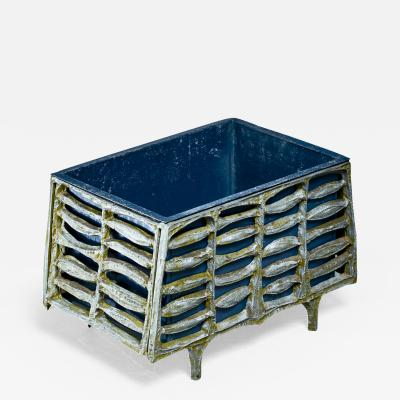 Donald Drumm Don Drumm unique aluminum and enameled steel planter 1960s