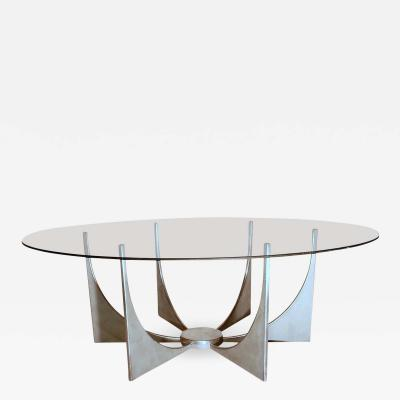 Donald Drumm Minimalist Aluminium Coffee Table in the Style of Donald Drumm circa 1970