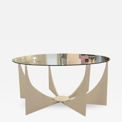 Donald Drumm Powder Coated in White Mid Century Modern Indoor Outdoor Low Table