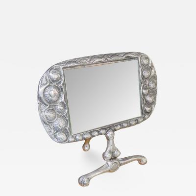 Donald Drumm Stunning Donald Drumm Brutalist Aluminium Dressing Table Mirror Mid Century