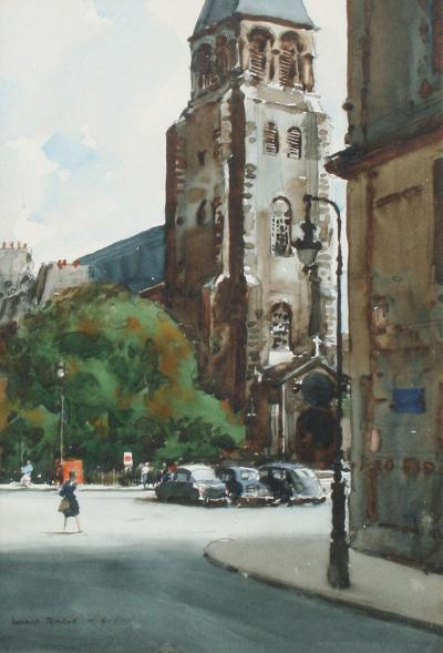 Donald Teague Church of St Germain des Pres Paris