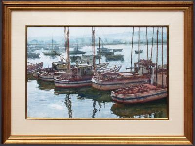 Donald Teague Fishing Boats in Monterey Harbor