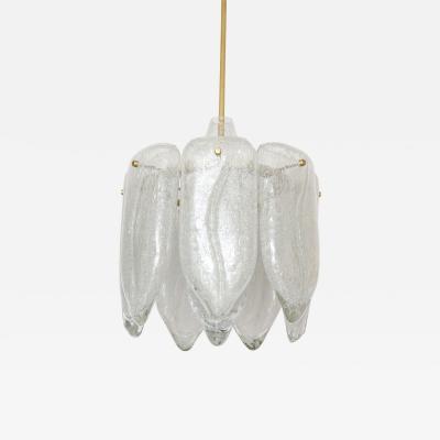 Doria Leuchten Doria Glass Petal Lotus Chandelier