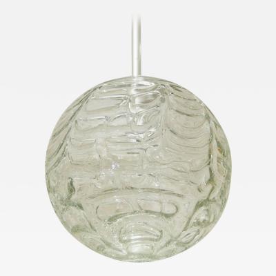Doria Leuchten Doria Organic Patterned Clear Glass Globe