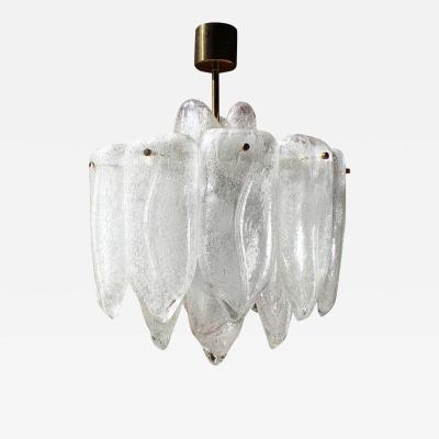 Doria Leuchten Giant Cuttlefish Art Glass Chandelier by Doria Germany 1970s