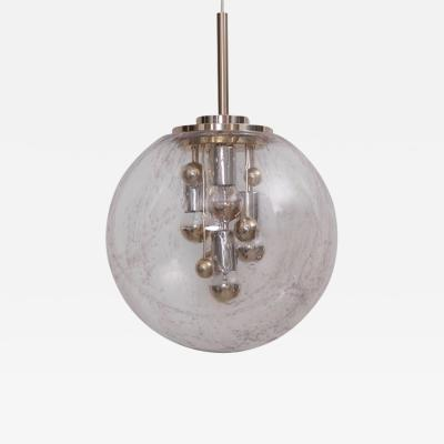 Doria Leuchten Huge Sputnik Bubble Glass Pendant Lamp by Doria