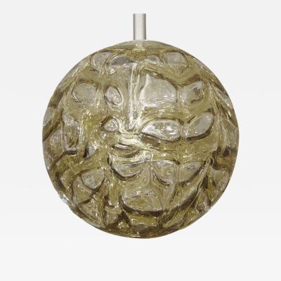 Doria Leuchten Massive Doria Organic Amber Tone Glass Globe Pendant
