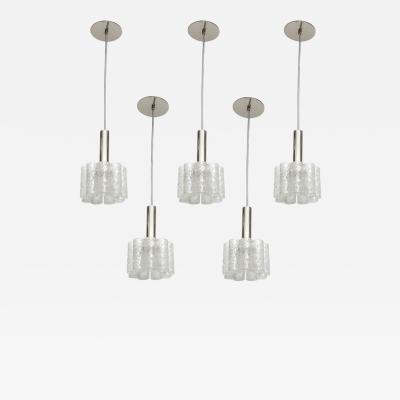 Doria Leuchten Murano Glass Tube Pendants