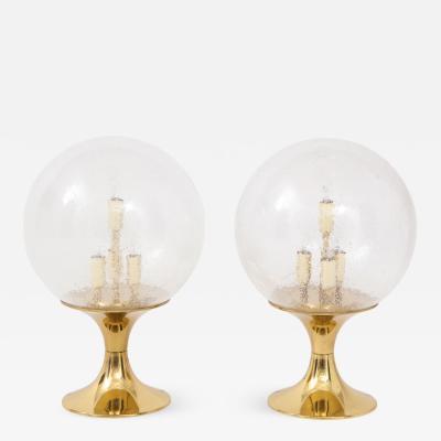 Doria Leuchten Pair of 1970s Sputnik Table Lamps by Doria