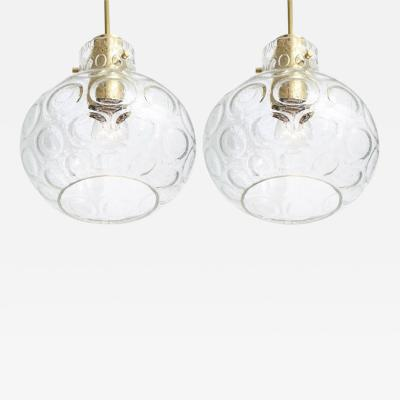 Doria Leuchten Pair of Pendant lights by Doria 2 Pairs Available