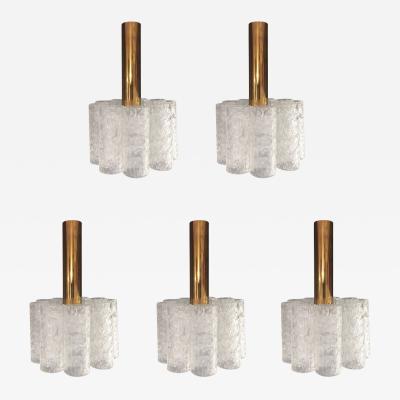 Doria Leuchten Set of 5 Doria pendants