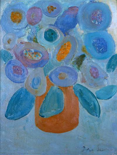 Doris Emrick Lee Blue Bouquet