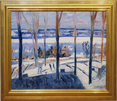 Dorothea M Mrs John W Thompson Litzinger Winter Landscape Oil Painting by Dorothea Litzinger