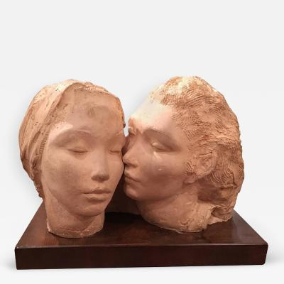 Dorothea Schwarcz Greenbaum Sculpture of Two Women Dorothea Greenbaum