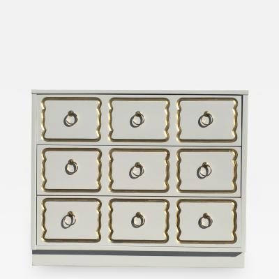 Dorothy Draper Cream Lacquered Espana Chest of Drawers by Dorothy Draper