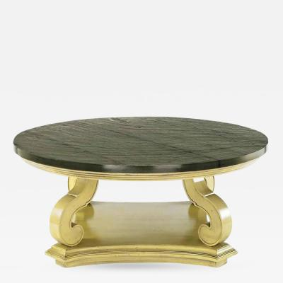 Dorothy Draper Dorothy Draper Espana Collection Ivory and Slate Coffee Table
