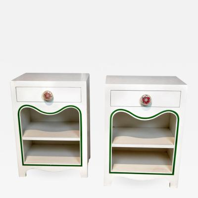 Dorothy Draper Dorothy Draper Pair of Nightstands the Greenbrier Resort 1948
