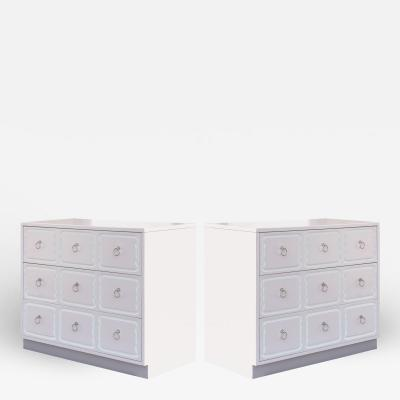 Dorothy Draper Dorothy Draper Style Espa a Dressers in Soft Pink With Nickel Pulls Pair