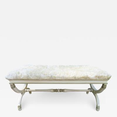 Dorothy Draper Lovely Dorothy Draper Biscuit Tufted Bench Hollywood Regency
