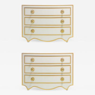 Dorothy Draper PAIR OF DOROTHY DRAPER VIENNESE COLLECTION CHESTS LACQUERED IN IVORY CIRCA 1963