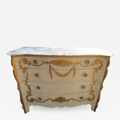 Dorothy Draper Stunning Dorothy Draper style Marble Top Chest Gilt Decoration