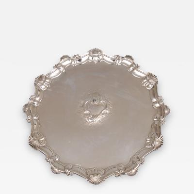 Dorothy Sarbit George II Sterling Silver Salver 1754