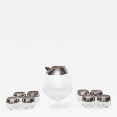 Dorothy Thorpe Dorothy Thorpe Sterling Silver Rimmed Cocktail Set