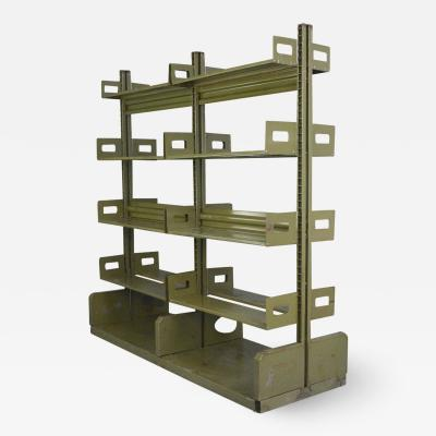 Double Sided Industrial Archive Shelving Circa 1940s