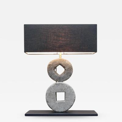Double mill stone lamp