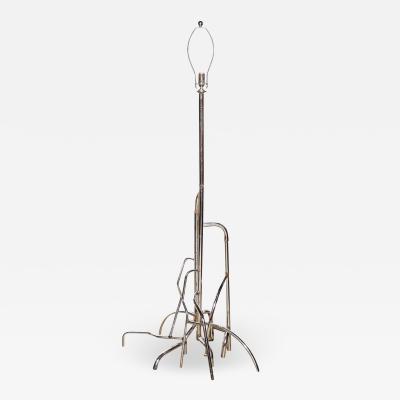 Doug Meyer Taller Doug Meyer Studio Sculpted Welded Recycled Chrome Floor Lamp C 2005