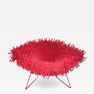 Douglas Homer Hairy Bertoia Red Diamond Chair by Douglas Homer