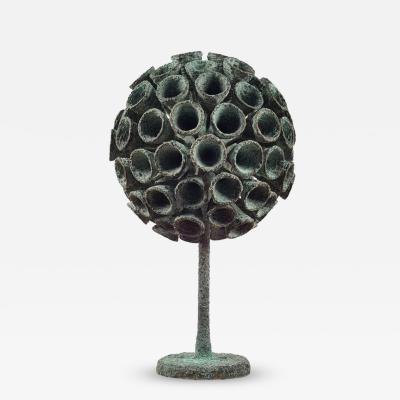 Douglas Ihlenfeld Organic Bronze Blooming Plant Form Sculpture by Douglas Ihlenfeld