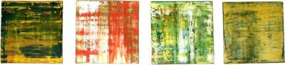 Douglas Leon Cartmel Suite of Four Abstract Color Field Oil Paintings by Douglas Leon Cartmel