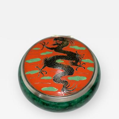 Dragon Box Enamel on Sterling Silver