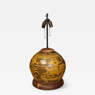 Dragon Jar Table Lamp