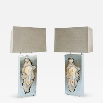 Dragonette Limited Pair of Special Edition Pedra Table Lamps Dragonette Private Label