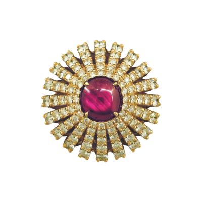 Dramatic Star Ruby Ring